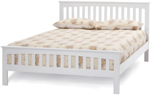 Serene Hevea Wood Amelia Opal White Bed