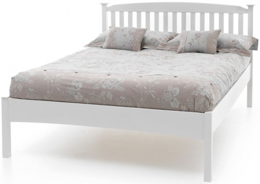 Serene Hevea Wood Eleanor Opal White Low Foot End Bed