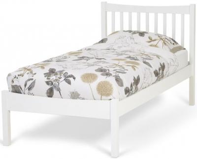 Serene Alice Hevea Wood Opal White Bed
