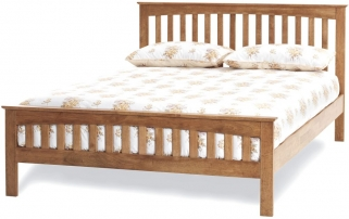 Serene Hevea Wood Amelia Honey Oak Bed