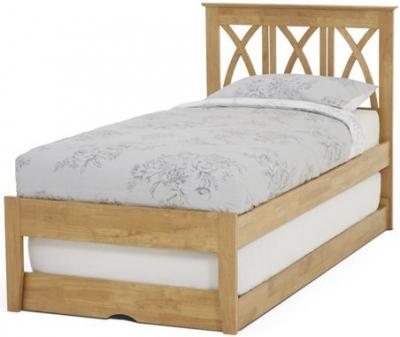 Serene Hevea Wood Autumn Honey Oak Guest Bed