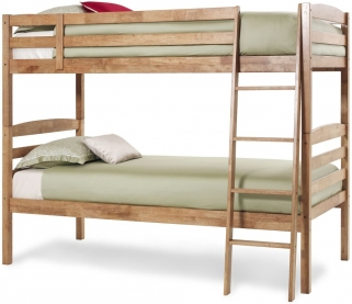 Serene Hevea Wood Brooke Honey Oak Bunk Bed