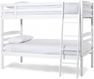 Serene Hevea Wood Brooke Opal White Bunk Bed