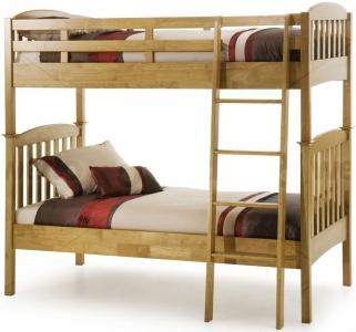 Serene Hevea Wood Eleanor Honey Oak Bunk Bed