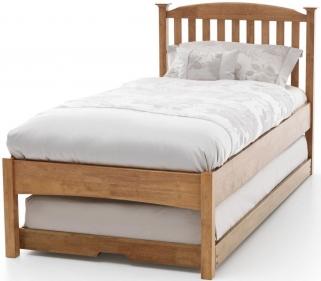 Serene Hevea Wood Eleanor Honey Oak Guest Bed - Low Foot End