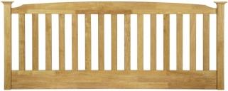 Serene Eleanor Hevea Wood Honey Oak 3ft Headboard