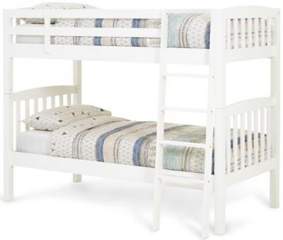 Serene Ella Hevea Wood Opal White Bunk Bed