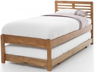 Serene Hevea Wood Esther Honey Oak Guest Bed