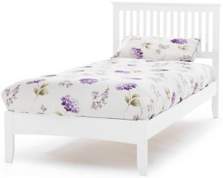 Serene Hevea Wood Freya Opal White Bed - 3ft Single