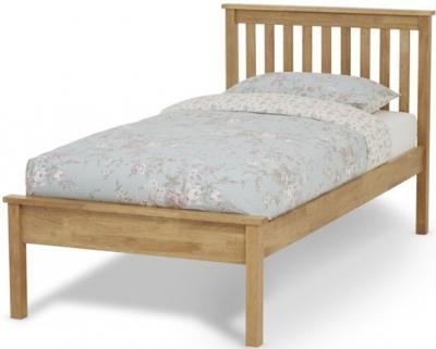 Serene Heather Hevea Wood Honey Oak Bed