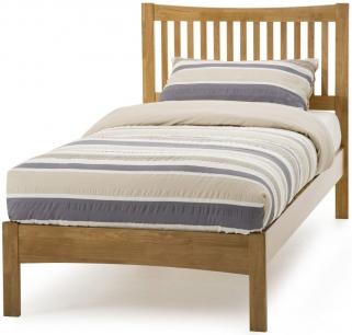 Serene Hevea Wood Mya Honey Oak Bed - 3ft Single