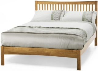 Serene Mya Hevea Wood Honey Oak Bed