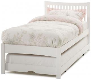 Serene Mya Hevea Wood Opal White Guest Bed