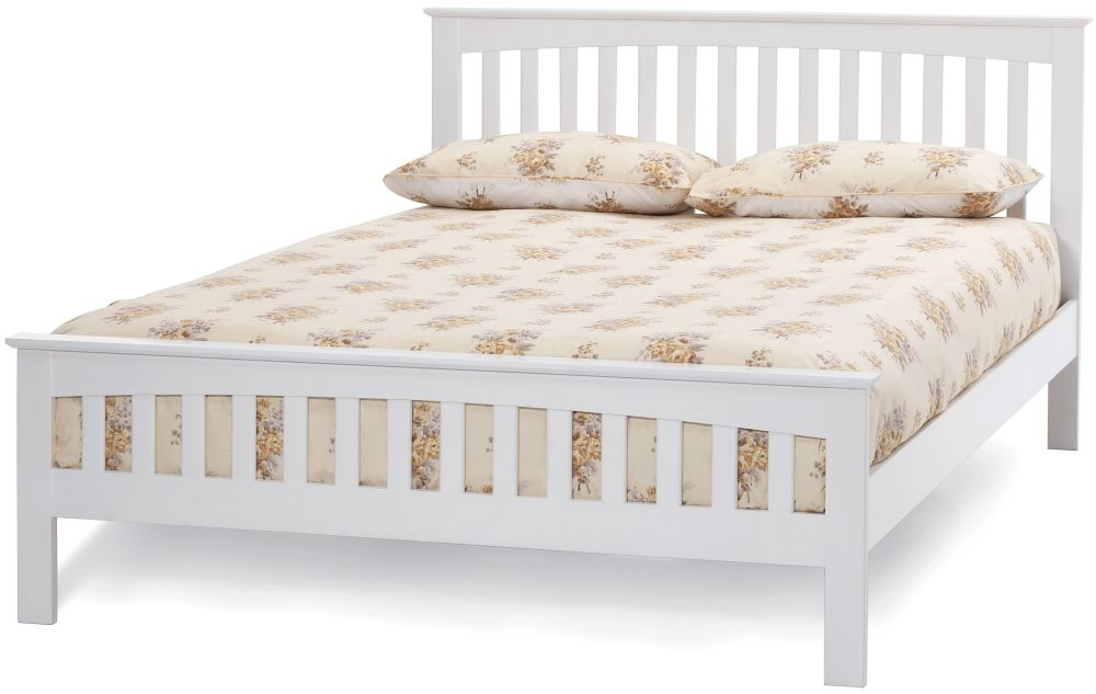 Serene Amelia Hevea Wood Opal White Bed