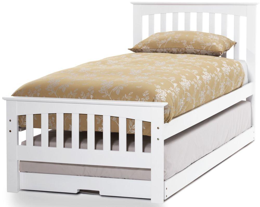 Serene Amelia Hevea Wood Opal White Guest Bed