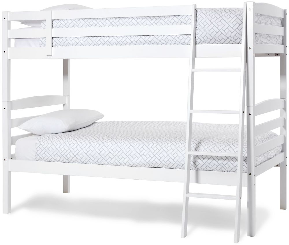 Serene Hevea Wood Brooke Opal White Bunk Bed