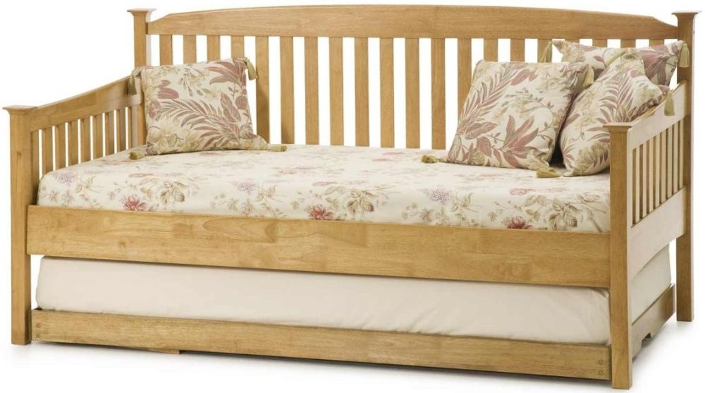 Serene Hevea Wood Eleanor Honey Oak Day Bed with Guest Bed