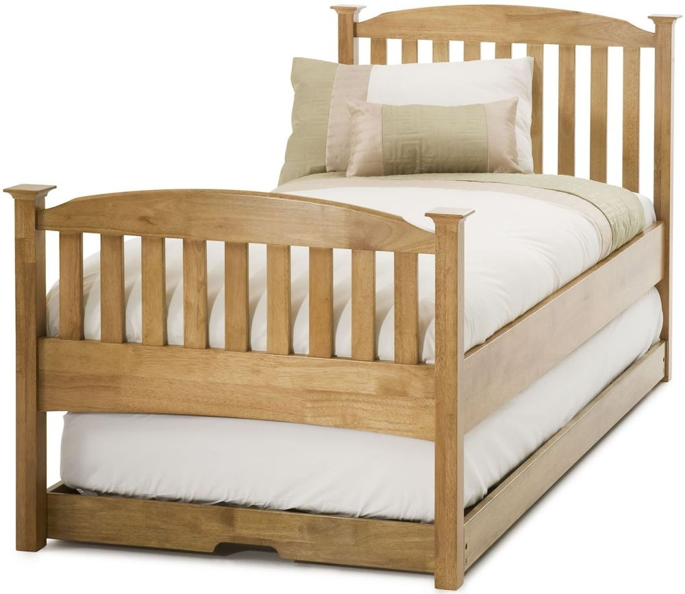 Serene Hevea Wood Eleanor Honey Oak Guest High Foot End Bed