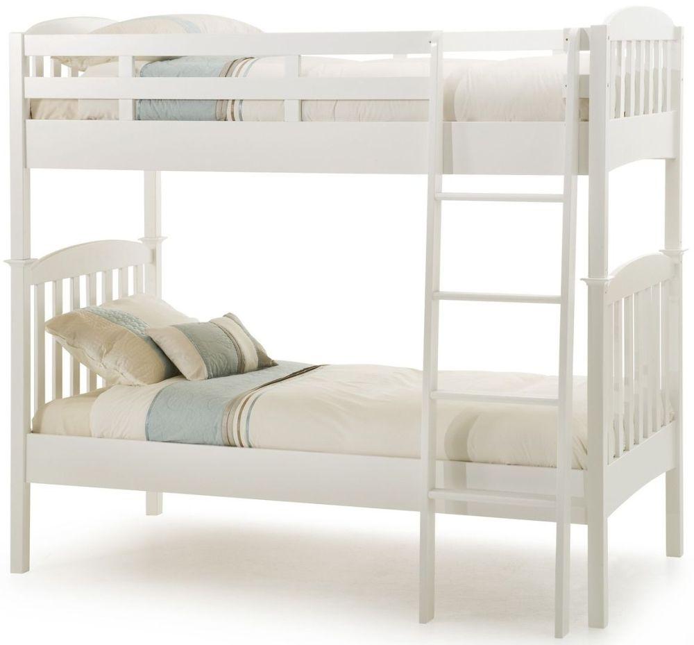Serene Hevea Wood Eleanor Opal White Bunk Bed
