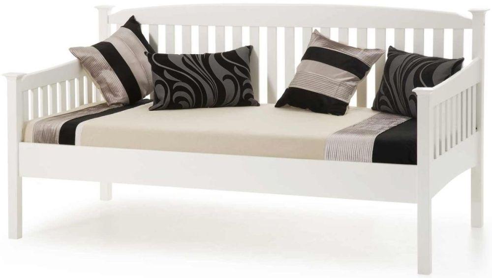 Serene Hevea Wood Eleanor Opal White Day Bed