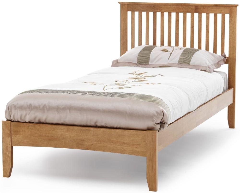 Serene Hevea Wood Freya Honey Oak Bed - 3ft Single