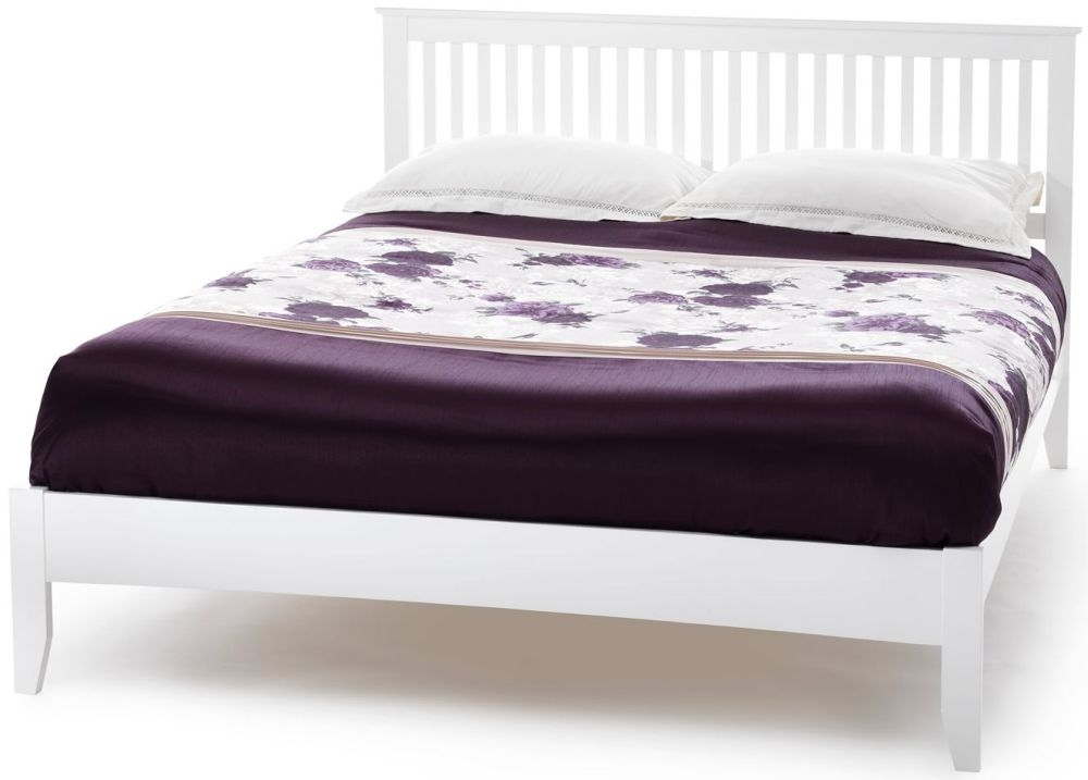 Serene Hevea Wood Freya Opal White Bed