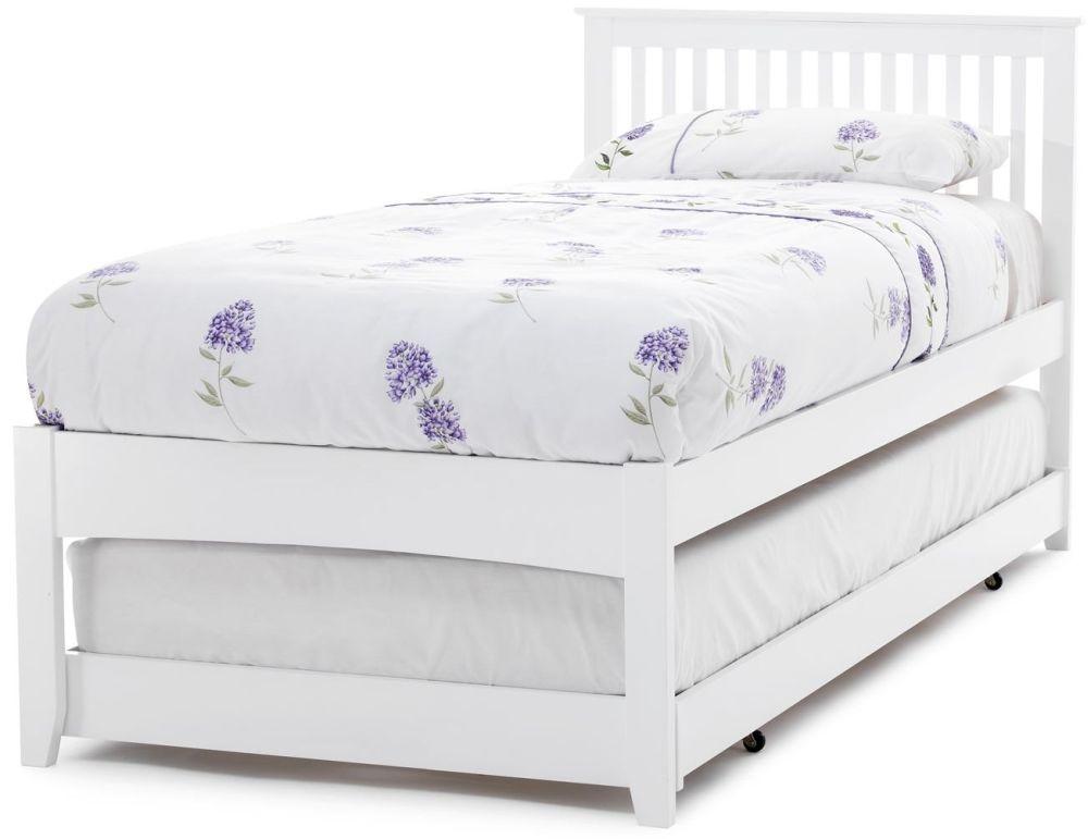 Serene Hevea Wood Freya Opal White Guest Bed