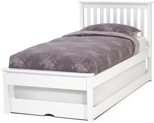 Serene Heather Hevea Wood Opal White Guest Bed