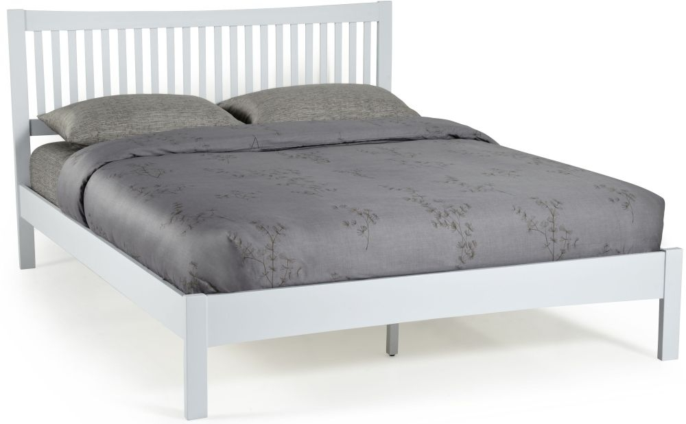 Serene Hevea Wood Mya Grey Bed