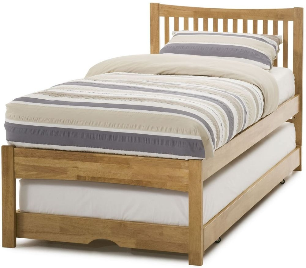 Serene Mya Hevea Wood Honey Oak Guest Bed