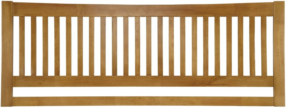 Serene Hevea Wood Mya Honey Oak Headboard
