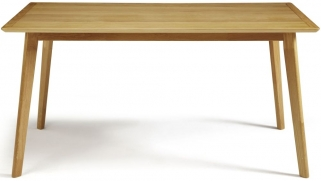 Serene Hillingdon Oak Dining Table - 150cm Fixed Top