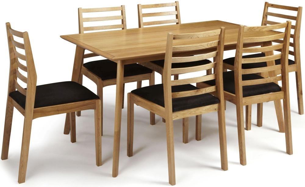 Serene Hillingdon Oak Dining Set - 150cm with 6 Lewisham Chairs