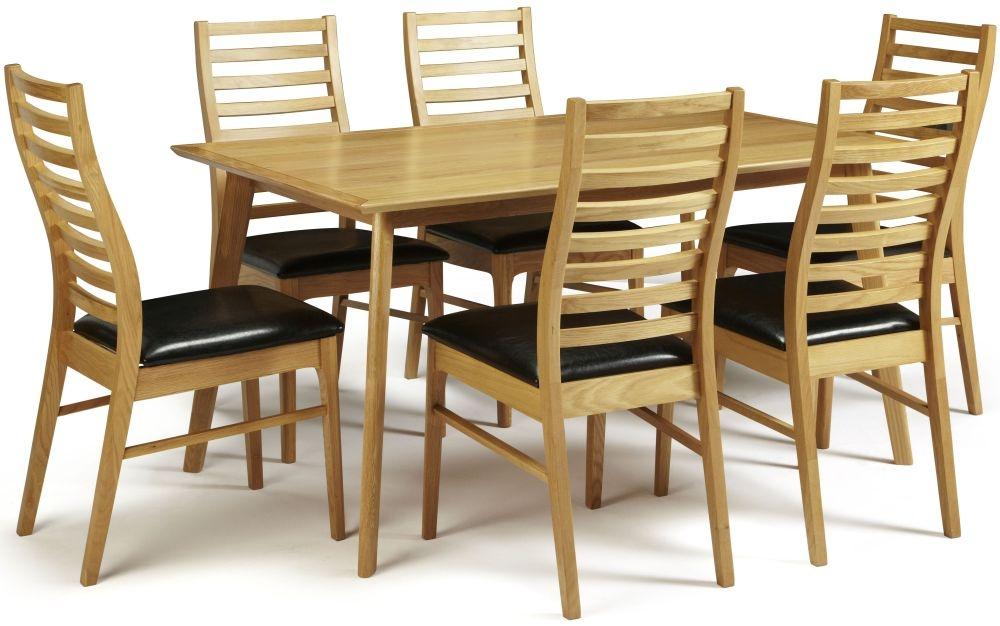 Serene Hillingdon Oak Dining Set - 150cm with 6 Wandsworth Chairs
