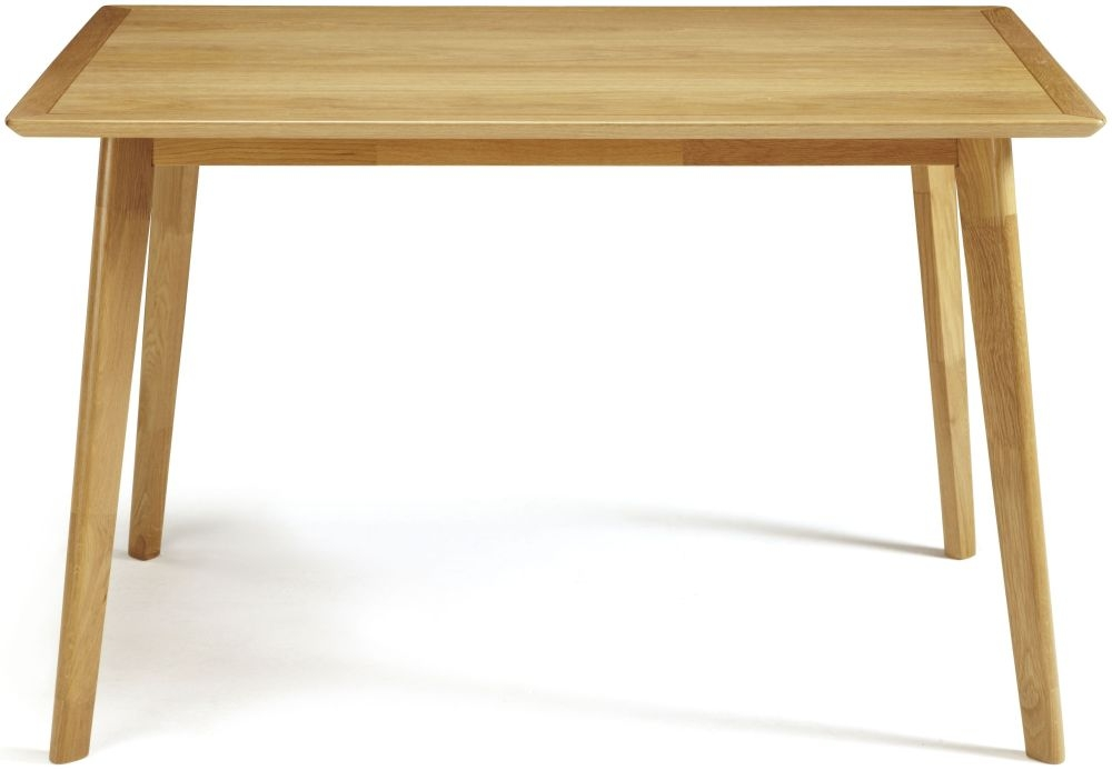 Serene Hillingdon Oak Dining Table - 120cm Fixed Top