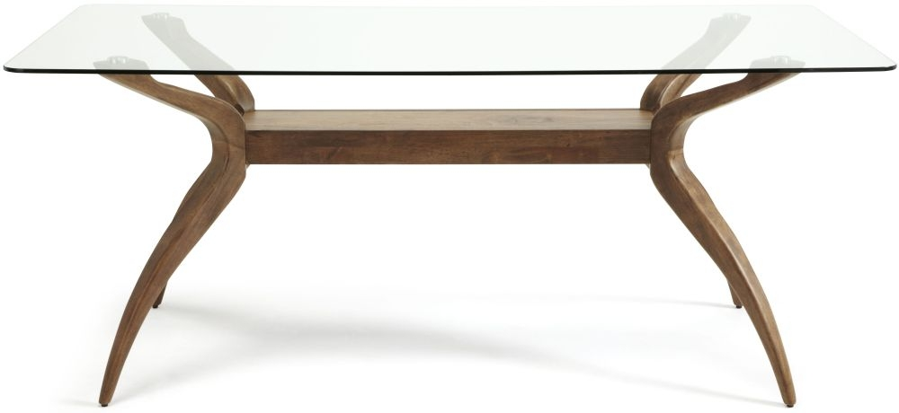 Serene Islington Walnut Dining Table - Rectangular Fixed Top