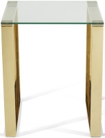 Serene Kayla Gold and Glass Lamp Table