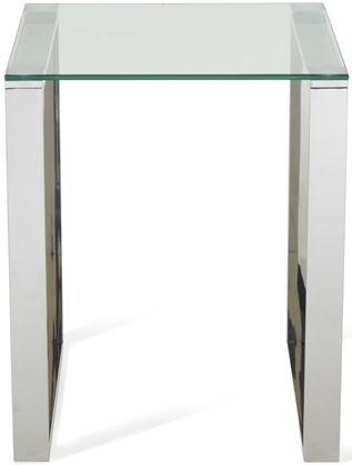 Serene Kayla Lamp Table - Glass and Chrome