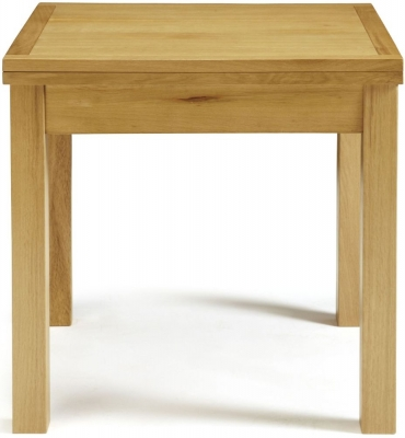 Serene Lambeth Oak Square Flip Top Dining Table