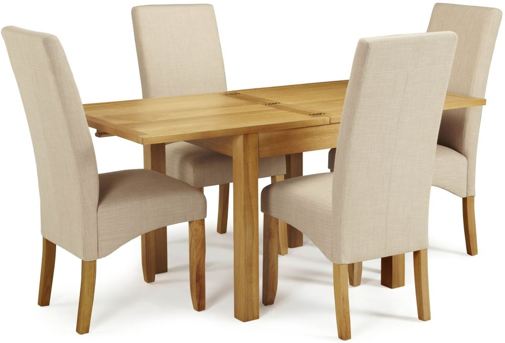 Serene Lambeth Oak Dining Set - Extending with 4 Merton Stone Chairs