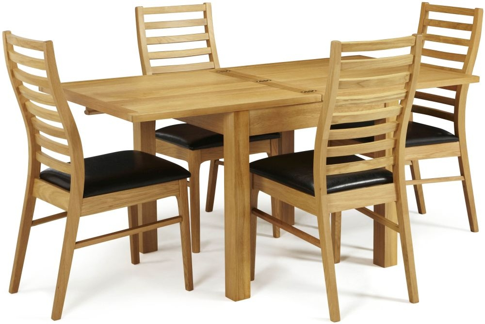 Serene Lambeth Oak Dining Set - Extending with 4 Wandsworth Chairs