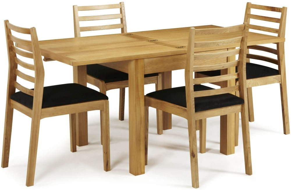 Serene Lambeth Oak Dining Set - Extending with 6 Lewisham Chairs