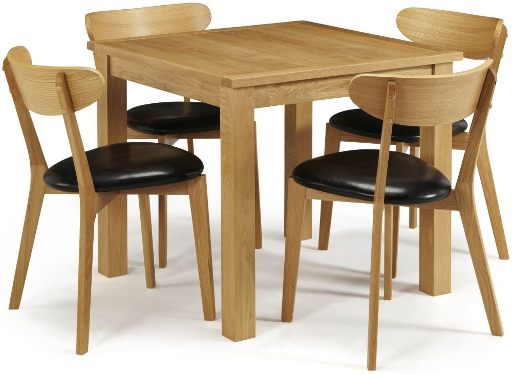 Serene Lambeth Oak Dining Set - Fixed Top with 4 Newham Chairs