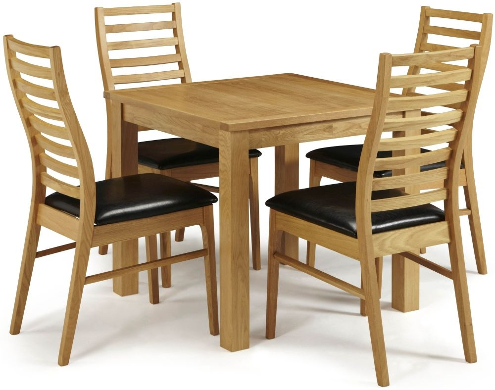 Serene Lambeth Oak Dining Set - Fixed Top with 4 Wandsworth Chairs
