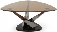Serene Larissa Black Nickel and Smoked Glass Coffee Table