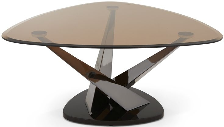 Serene Larissa Coffee Table - Smoked Glass and Black