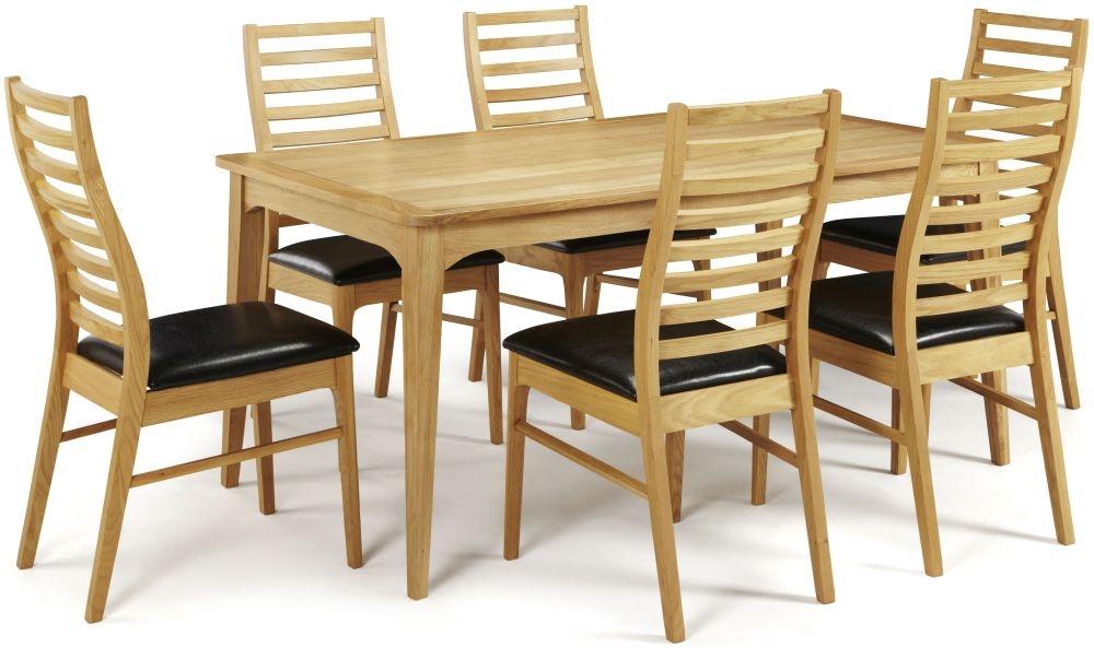 Serene Lewisham Oak Dining Set - 180cm with 6 Wandsworth Chairs