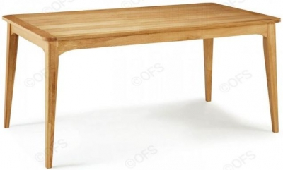 Serene Lewisham Oak Rectangular Dining Table - 180cm