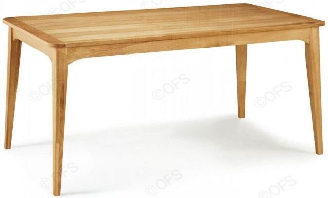 Serene Lewisham Oak Rectangular Dining Table - 180cm
