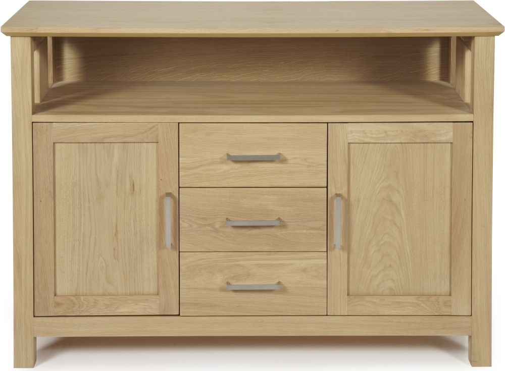 Serene Leyton Oak Large Sideboard